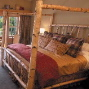 rustic canopy bed, church landing, white birch bed