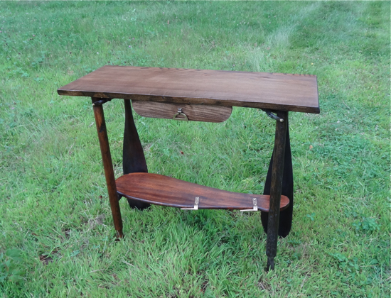 canoe theme table, rustic hall table, rustic decor