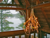 rustic lighting, rustic chandelier, Adirondack