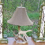 custom rustic lighting, antler lamps, deer antler