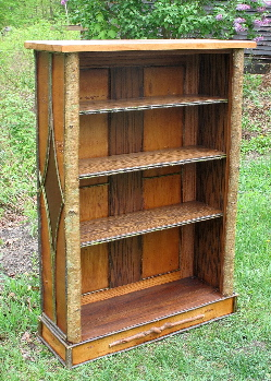 rustic bookcase - rustic cabinets - rustic
