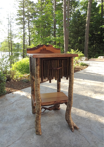 rustic furniture, end tables, Adirondack rustic