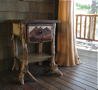 rustic table-rustic end table-rustic furniture