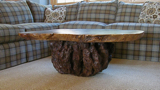 rustic table-rustic coffee table-burl table